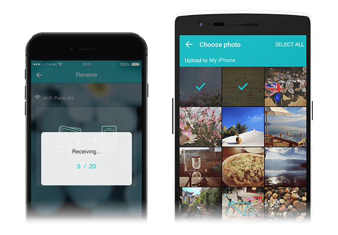 Photo Transfer - fast and wirelessly transfer pictures among iPhone